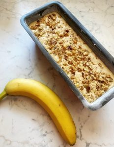 Banana bread con noci